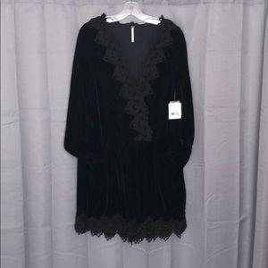 Free People Velvet and Lace Dress NWT Size L